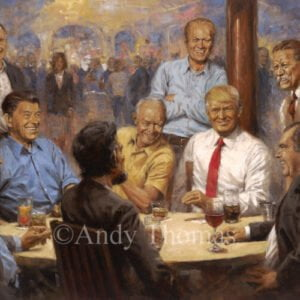 The Republican Club by Andy Thomas | Presidents | Trump | Reagan