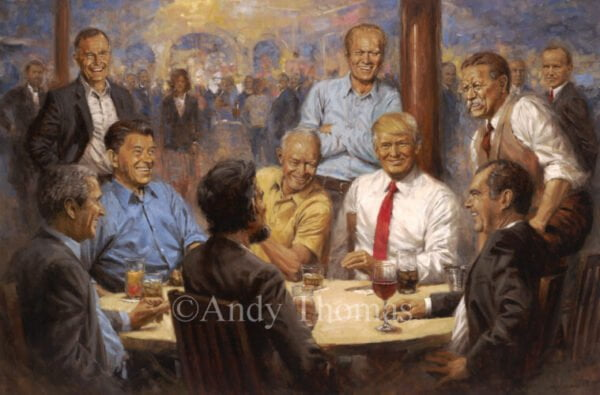 The Republican Club by Andy Thomas | Presidents | Trump | Reagan